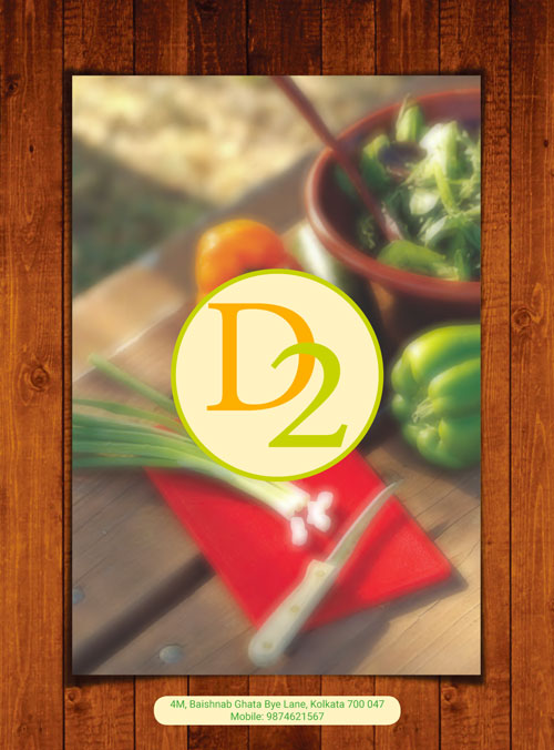 D2 restaurant menu design