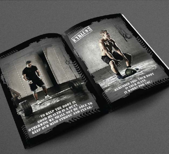 Brochure Design Company in Kolkata - fitness club brochure -1