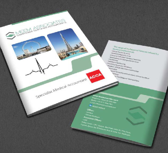 Brochure Design Company in Kolkata - charter accountant brochure -1