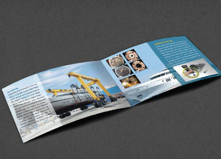 Brochure Design Company in Kolkata - ship company brochure -4