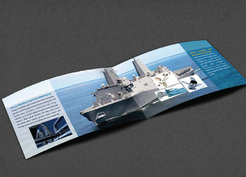 Brochure Design Company in Kolkata - ship company brochure -5