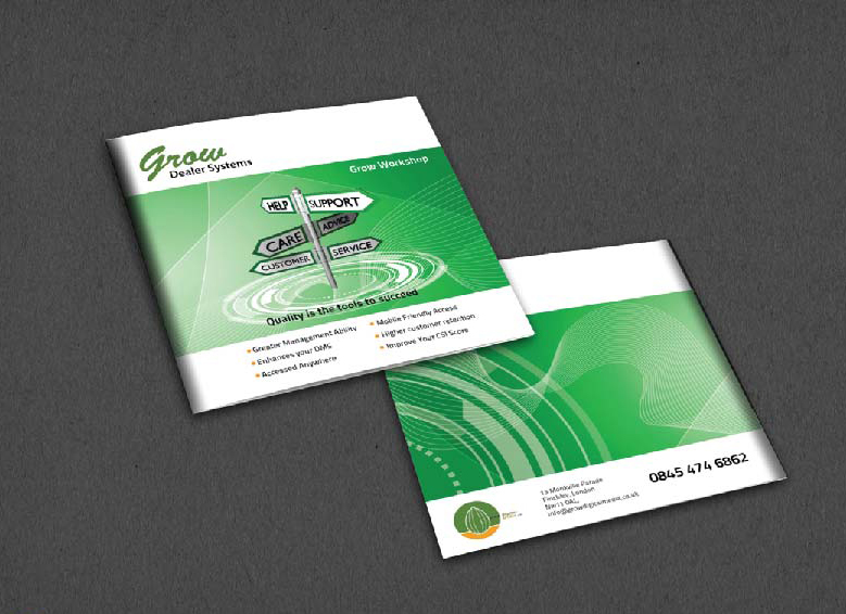 Brochure Design Company in Kolkata - Software company brochure -1b