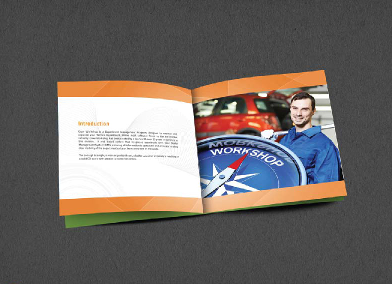 Brochure Design Company in Kolkata - Software company brochure -1a