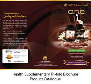 Food Supplement Brochure