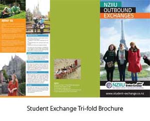 Student Exchange Tri-fold Brochure